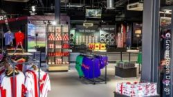Foto: Southampton FC Stadium Store – interior; copyright: Green Room Design